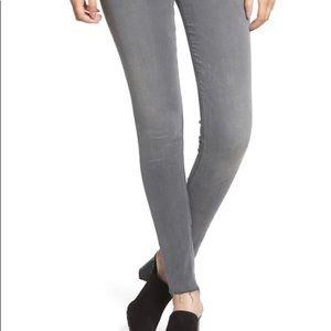 Hudson Midrise Nico Grey Super Skinny Jeans